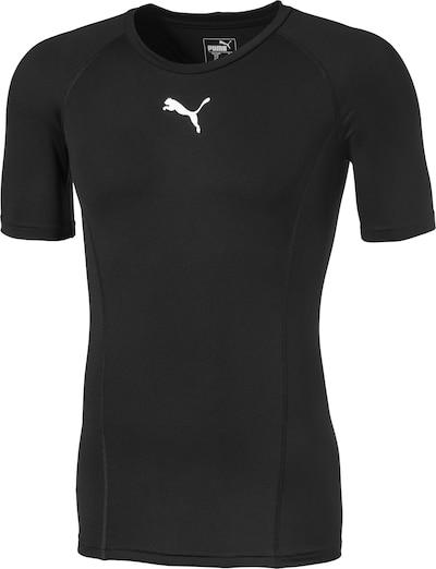 PUMA T-Shirt 'Liga' in schwarz / weiß, Produktansicht