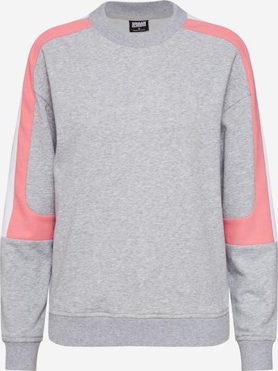Urban Classics Sweatshirt in de kleur Grijs / Pink, Productweergave