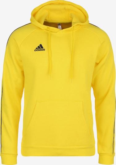 ADIDAS PERFORMANCE Sportsweatshirt 'CORE 18' in de kleur Geel / Zwart, Productweergave