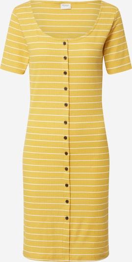 JACQUELINE de YONG Letné šaty 'NEVADA LIFE' - horčicová / biela: Pohľad spredu