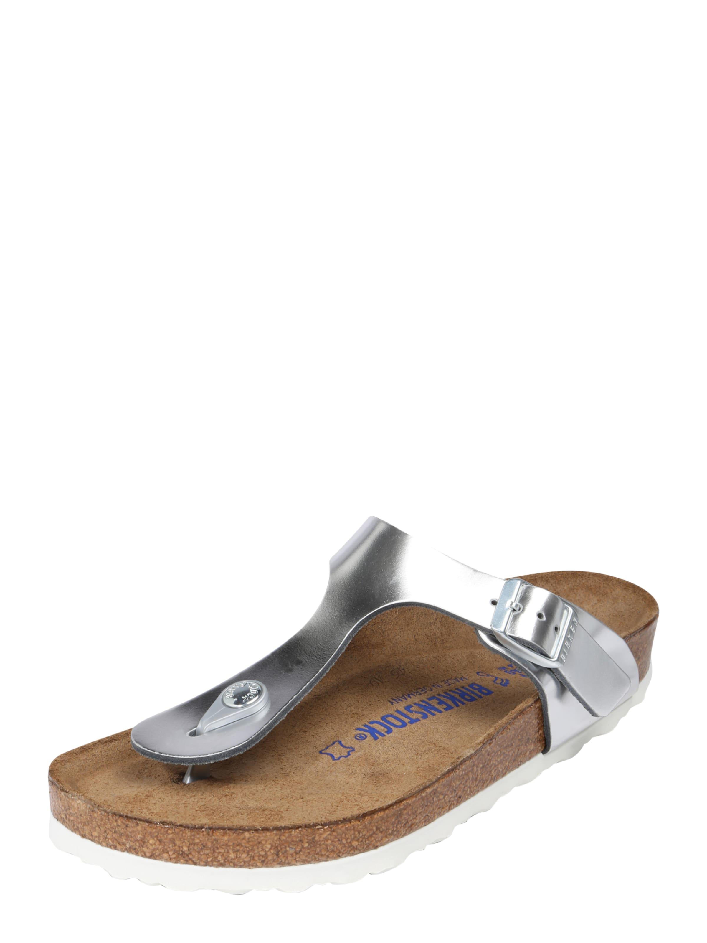 Sandale Birkenstock « Gizeh Sfb « Argent eaQApLPnI