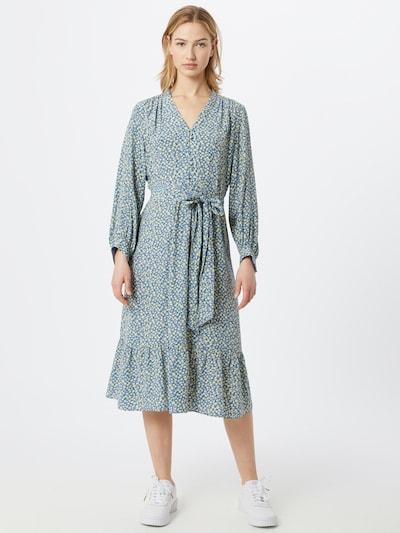 Noa Noa Kleid in rauchblau / zitrone / mischfarben, Modelansicht