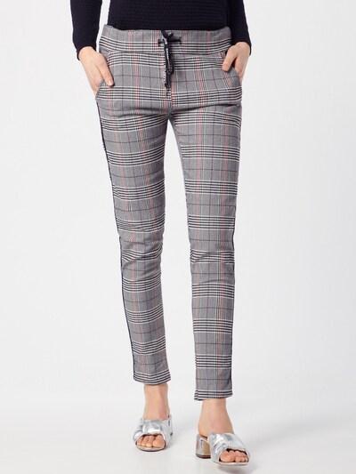Pantaloni 'Glencheck' Zwillingsherz pe gri: Privire frontală