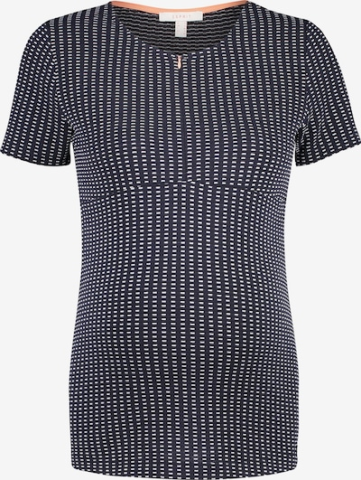 Esprit Maternity Shirt in dunkelblau / weiß, Produktansicht