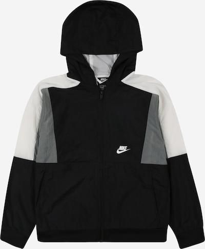 Geacă de primăvară-toamnă Nike Sportswear pe gri deschis / negru / alb, Vizualizare produs