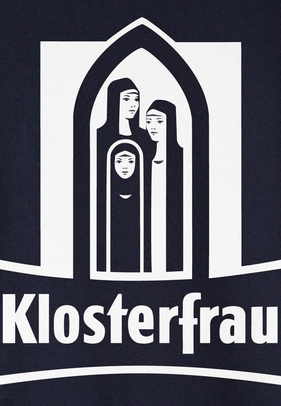 Wei Logoshirt shirt Dunkelblau Blau Klosterfrau T TXX8rqO