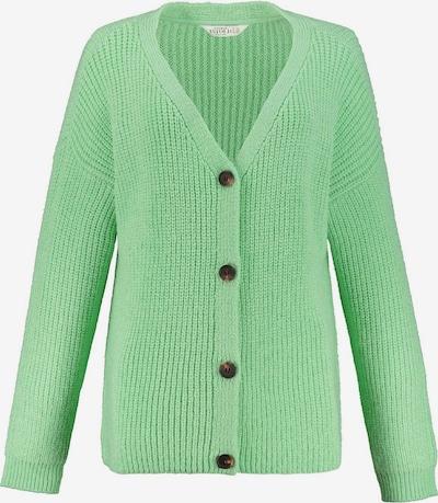 Ulla Popken Strickjacke in grün, Produktansicht