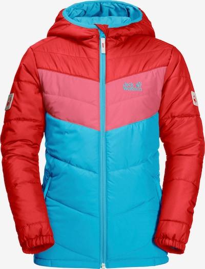 JACK WOLFSKIN Funktionsjacke 'Three Hills' in hellblau / pink / rot, Produktansicht