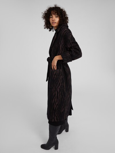 EDITED Mantel 'Santo' in braun / schwarz, Modelansicht