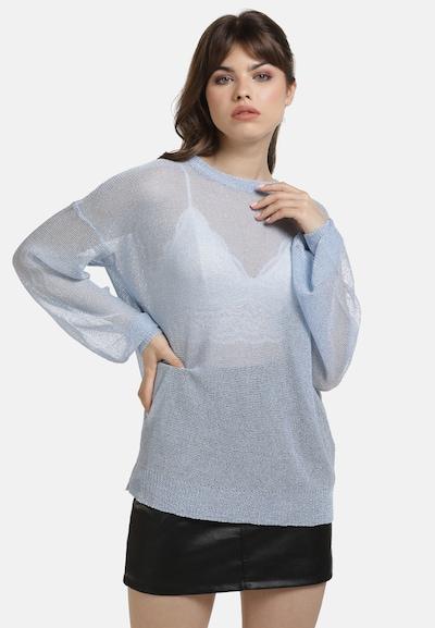 myMo at night Pullover in blau, Modelansicht