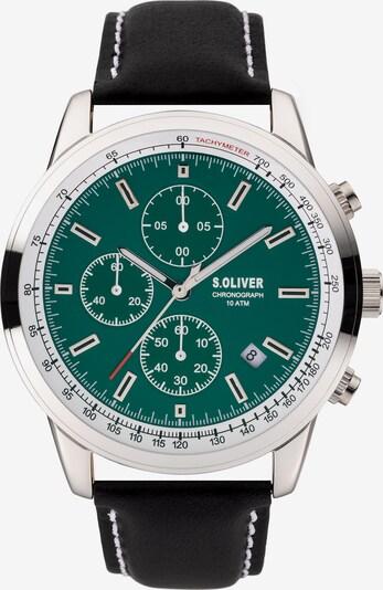 s.Oliver Chronograph 'SO-3934-LC' in smaragd / schwarz / silber, Produktansicht