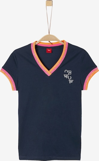 s.Oliver T-Shirt in blau / orange / pink, Produktansicht