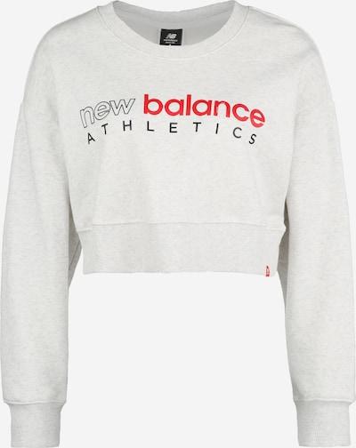 new balance Sportief sweatshirt 'WT01513' in de kleur Lichtblauw / Rood / Zwart, Productweergave
