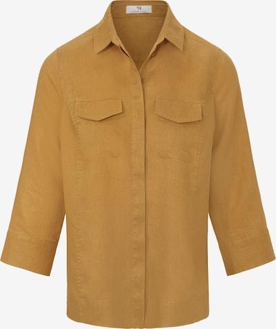 Peter Hahn Bluse aus 100% Leinen in gelb, Produktansicht