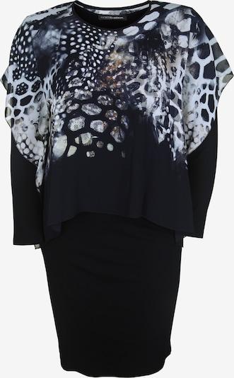 Doris Streich Kleid mit Chiffon-Überwurf in schwarz, Produktansicht