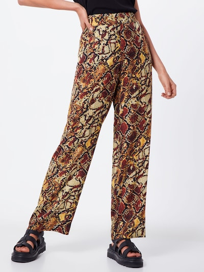 Pantaloni 'Chella' Gestuz pe maro / galben, Vizualizare model