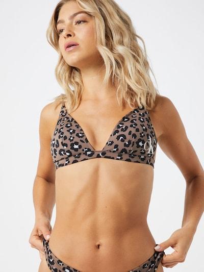 Calvin Klein Swimwear Bikinitop in hellbraun / schwarz, Modelansicht
