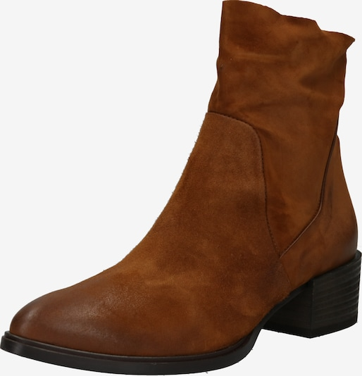 Paul Green Bottines 'Stiefelette' en cognac: Vue de face