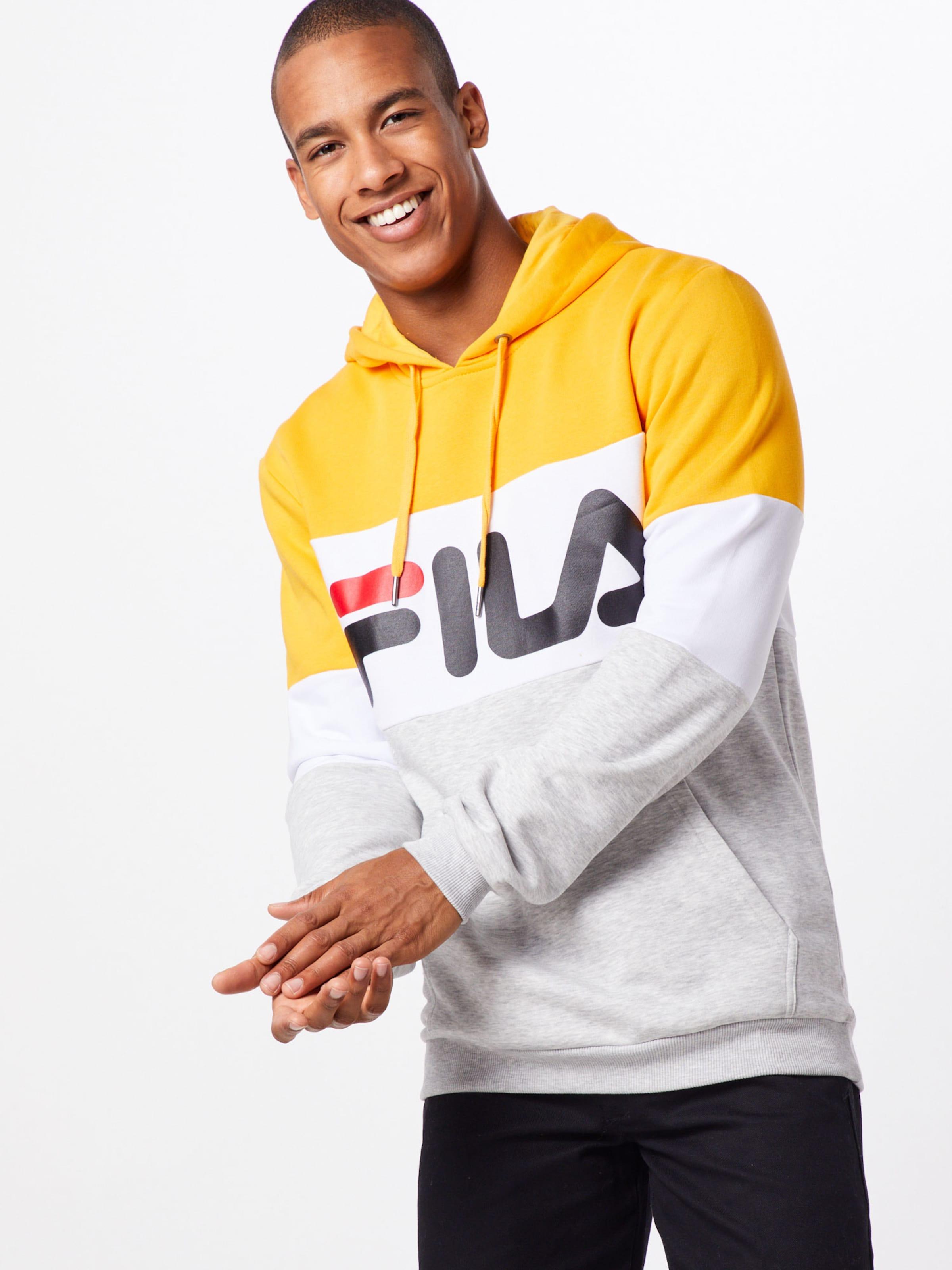 En JauneGris shirt 'night' Fila Sweat Blanc 5Rj4AL