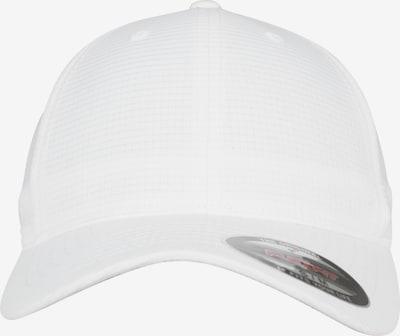 Flexfit Hydro-Grid Stretch Cap in weiß: Frontalansicht