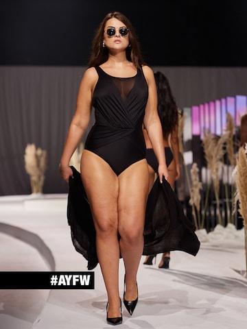 Black Swimsuit Look