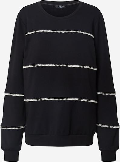 LIU JO JEANS Sweatshirt 'Felpa Chiusa' in schwarz / weiß, Produktansicht