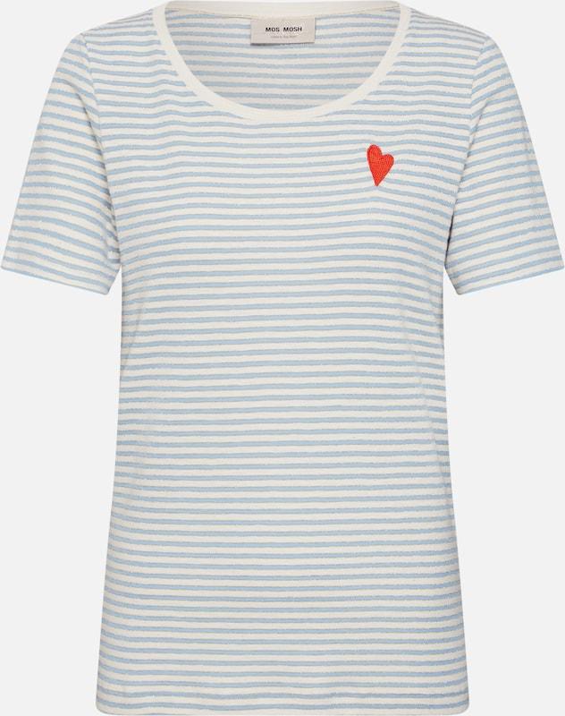 shirt O Stripe neck' Mosh Rouge 'kenia CrèmeBleu T Clair Mos En ZXTOkPiu
