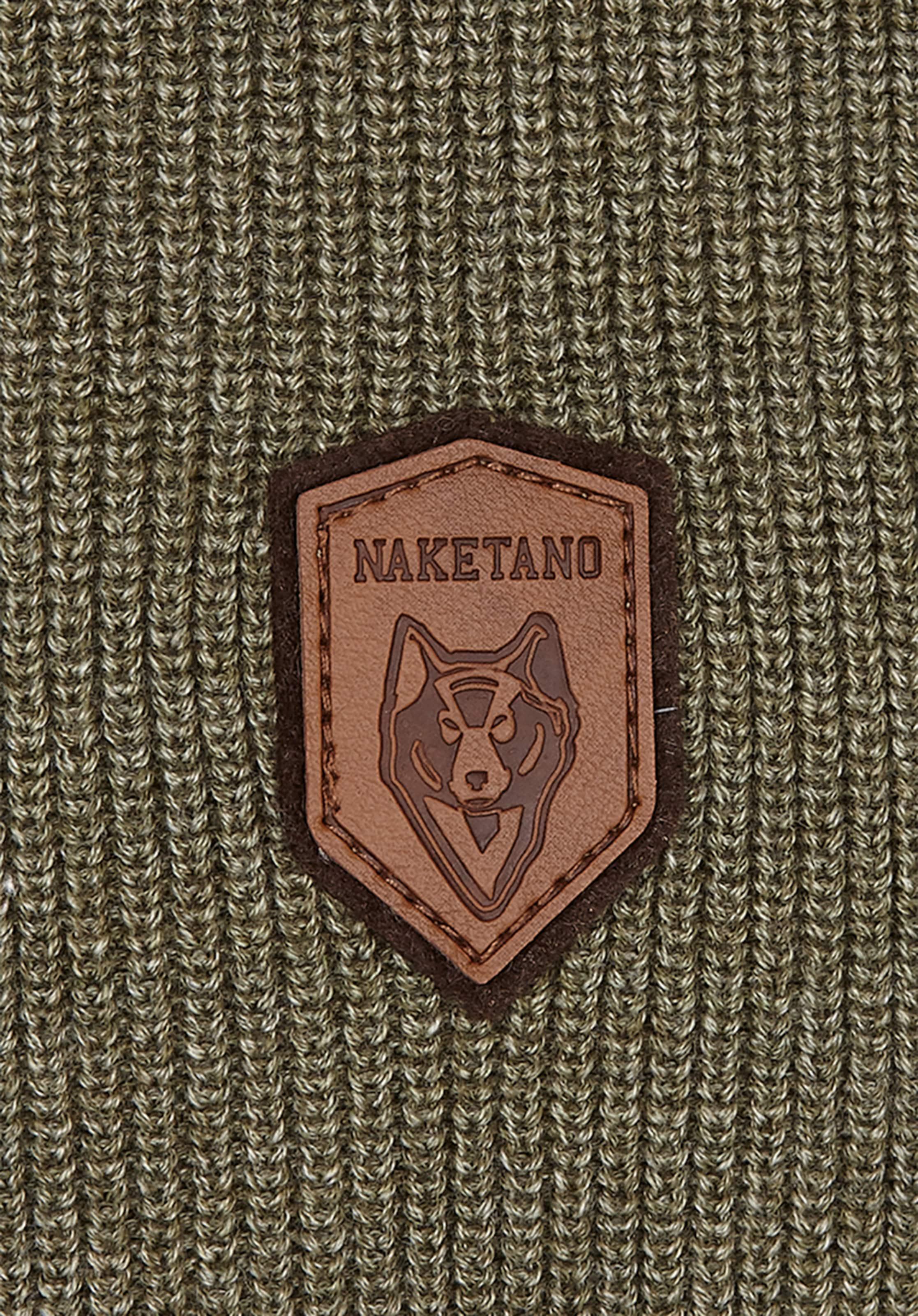 Socks' Strickpullover 'bald Naketano Headsamp; Black Oliv In 9YDIWEH2