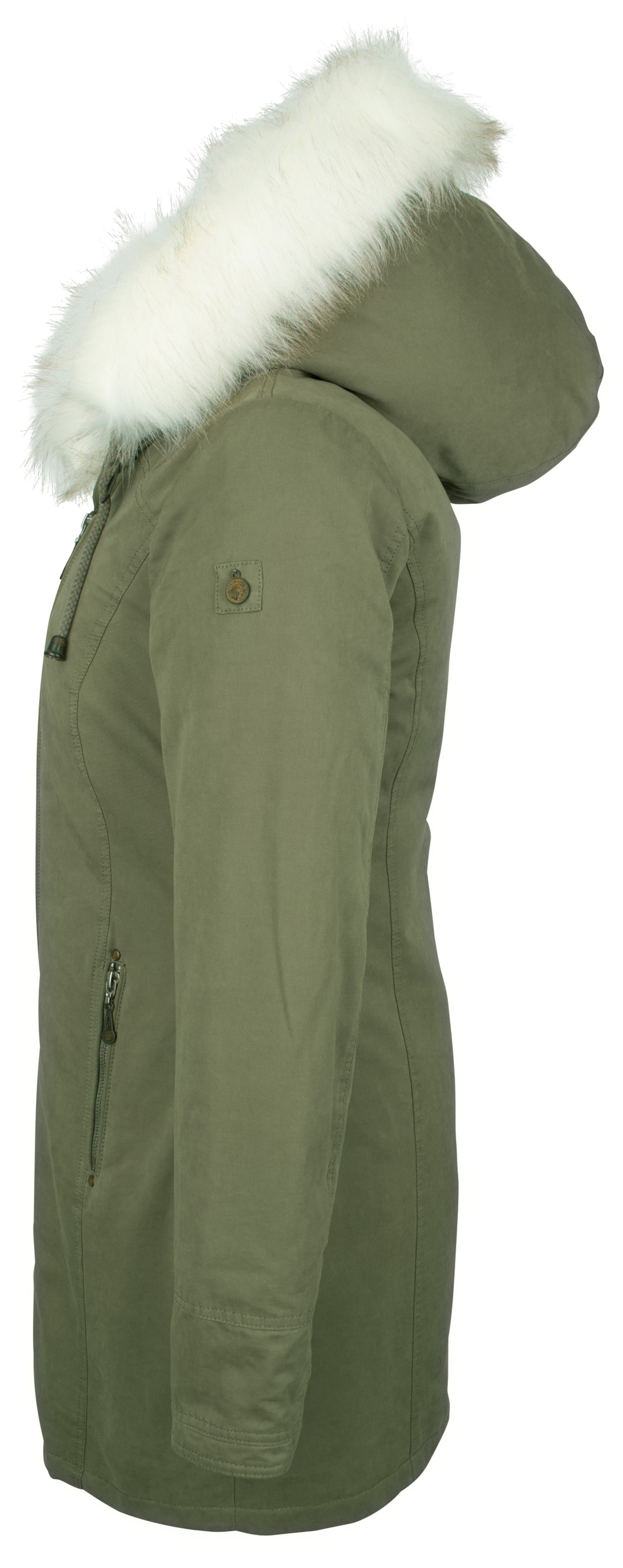 Dreimaster mantel grun