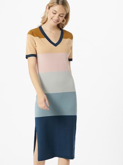 NÜMPH Kleid 'BLAISE' in blau / braun / rosa: Frontalansicht