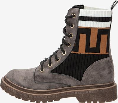 BETSY Boots in cognac / dunkelbraun / grau / weiß, Produktansicht