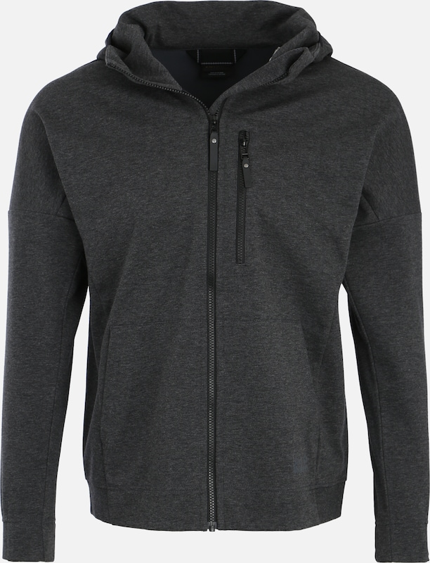 JACK WOLFSKIN Funktionele fleece-jas 'Riverland' in de kleur Antraciet, Productweergave