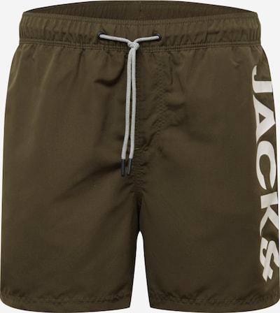 JACK & JONES Badeshorts 'JJIARUBA' in khaki, Produktansicht