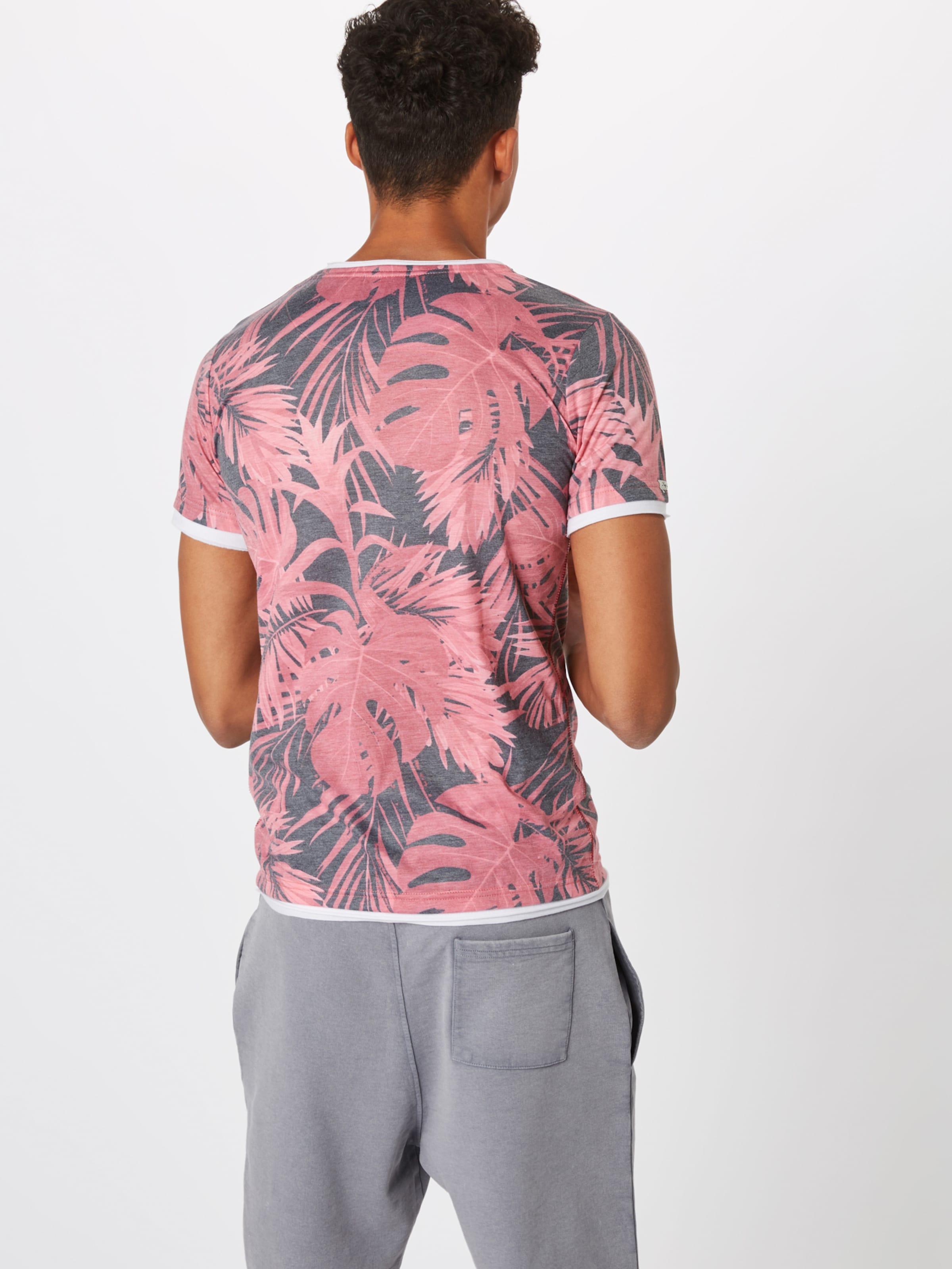 Couleurs De Key Yucca Rose GrisMélange En T 'mt Largo shirt Round' N0m8nvw
