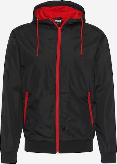Urban Classics Tussenjas 'Contrast Windrunner' in de kleur Rood / Zwart, Productweergave