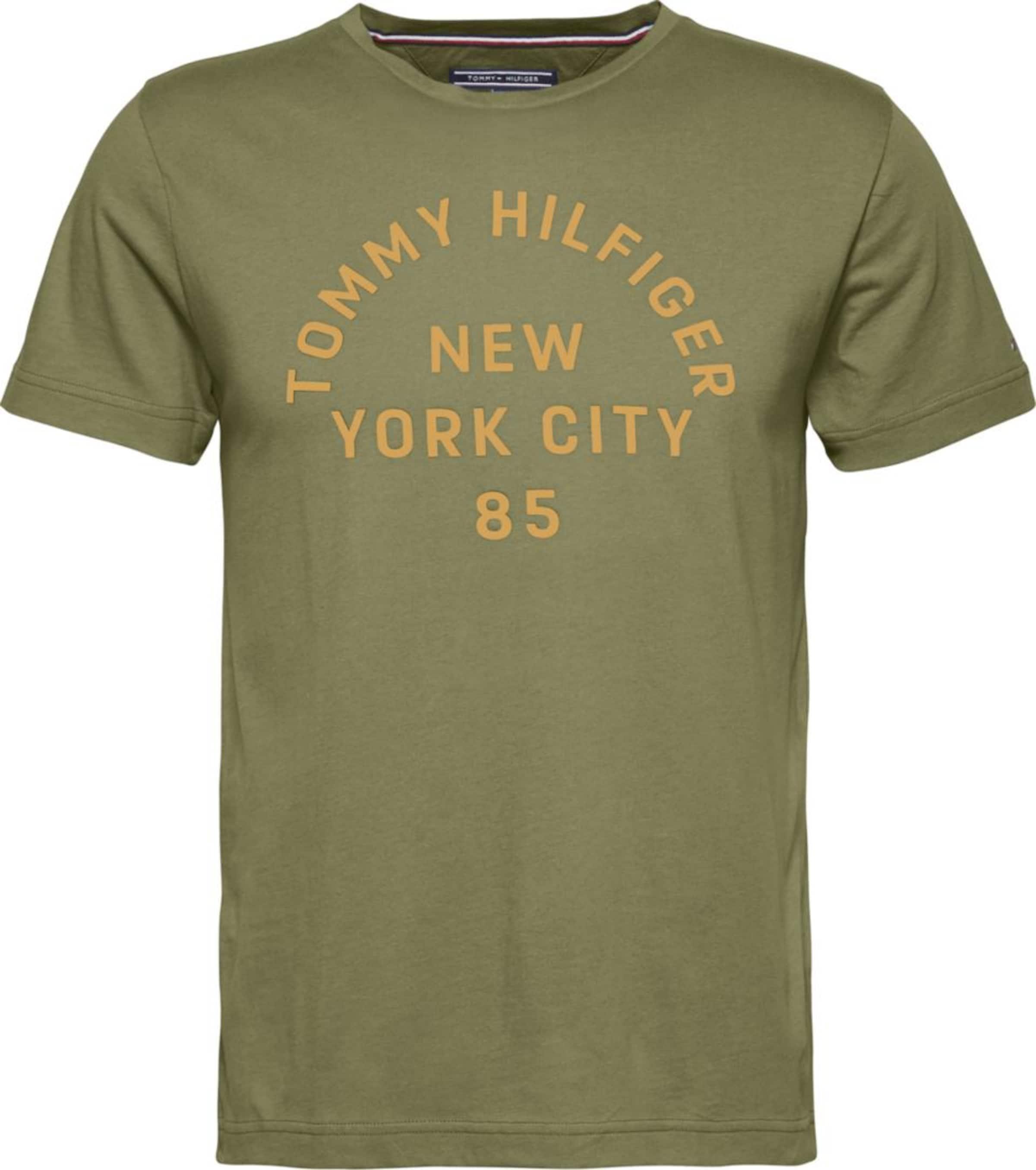 TOMMY HILFIGER T-Shirt 'Four Leaf Clover' Billige Offizielle Seite Grau-Outlet-Store Online Vdy0D