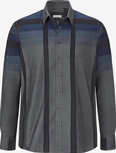 Shirtmaster Hemd 'Blackcheck' in grau / dunkelgrau, Produktansicht