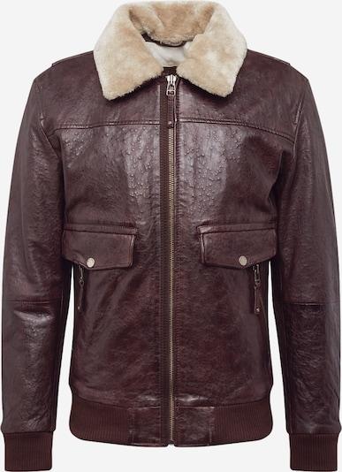 FREAKY NATION Prijelazna jakna 'The Airman' u sivkasto bež / tamno smeđa, Pregled proizvoda