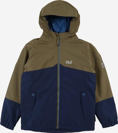 JACK WOLFSKIN Sportjacke 'ICELAND' in dunkelblau / khaki, Produktansicht