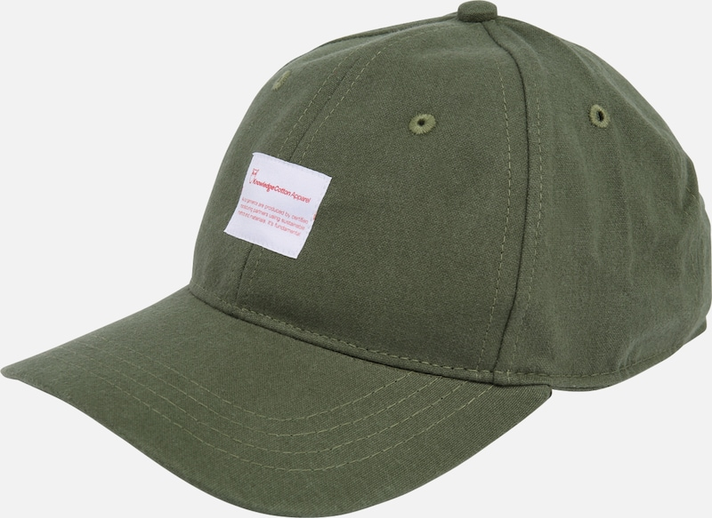 KnowledgeCotton Apparel Cap in dunkelgrün, Produktansicht