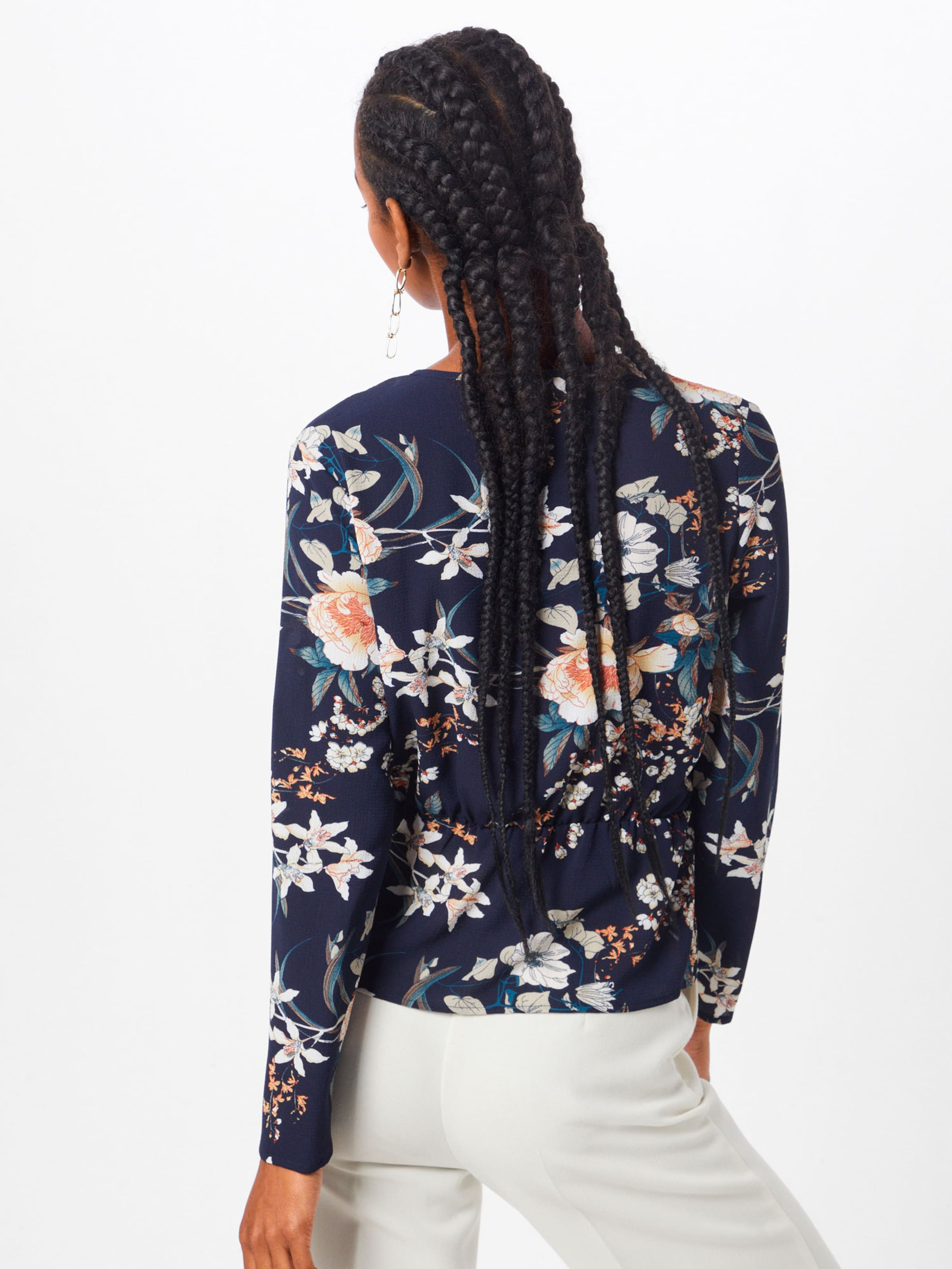 'new Bluse Boohoo Floral' In NavyPastellpink b76yYfg