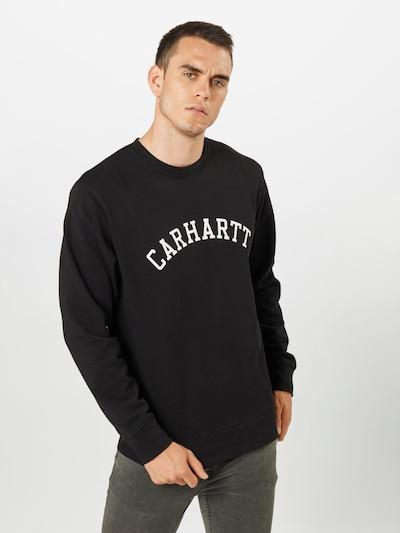 Carhartt WIP Sweat-shirt en noir / blanc: Vue de face