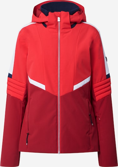ZIENER Sportjacke 'TADJIA' in rot / dunkelrot / weiß, Produktansicht