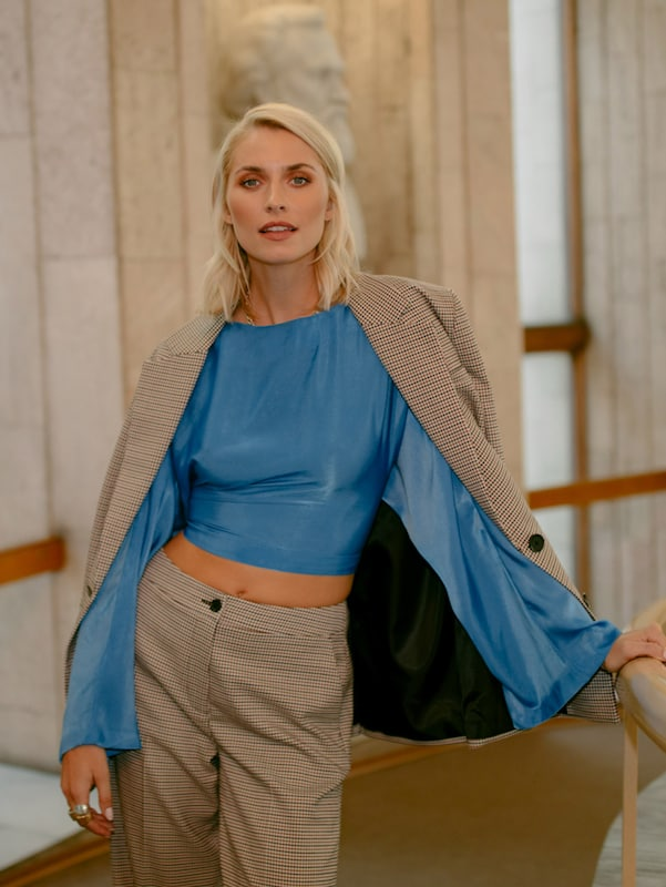 Elegante Outfits 2020: Streetstyle Hosenanzug - Lena Gercke mit dem Suit Up Outfit