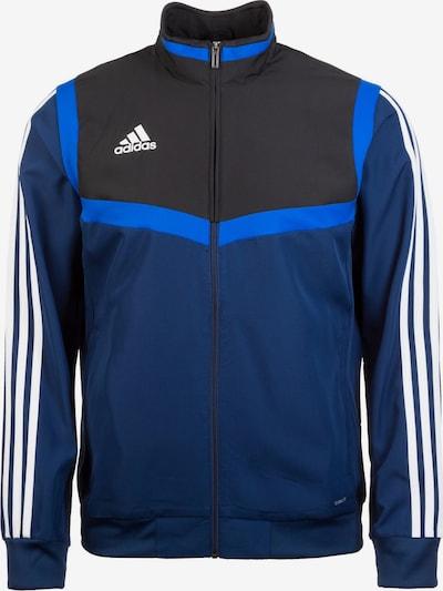 ADIDAS PERFORMANCE Sportjas 'Tiro 19' in de kleur Blauw / Donkerblauw / Zwart / Wit, Productweergave