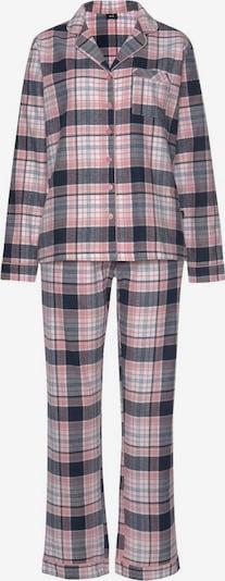 HIS JEANS Pyjama in blau / lila / rosa / weiß, Produktansicht