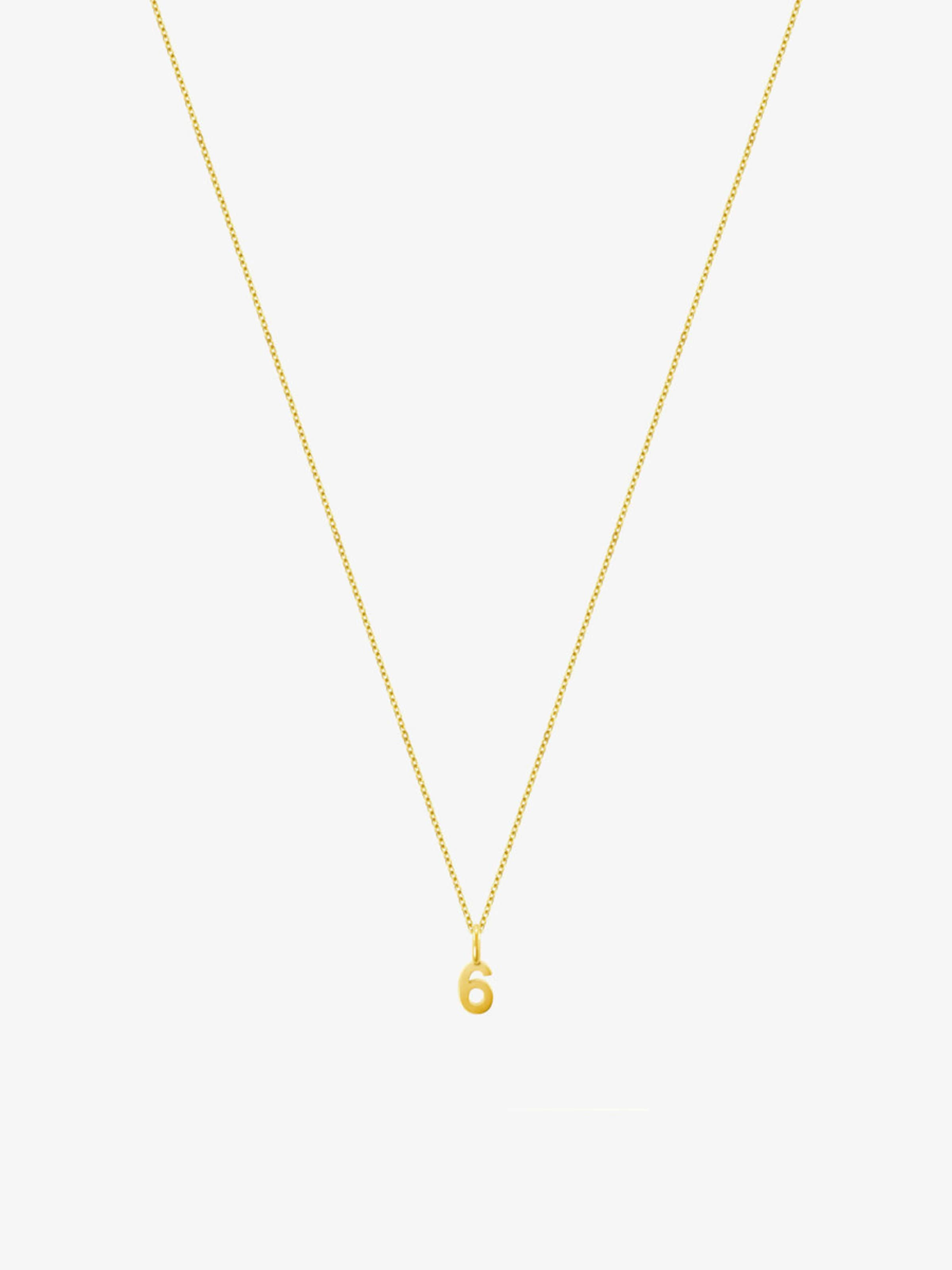'6' In Fine Gold Id Halskette 8OnP0wkX