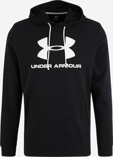Hanorac sport 'SPORTSTYLE TERRY' UNDER ARMOUR pe negru / alb, Vizualizare produs