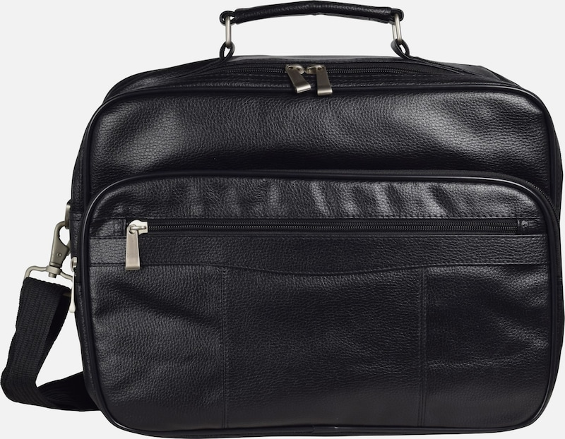 D&N Travel Bags in schwarz: Frontalansicht