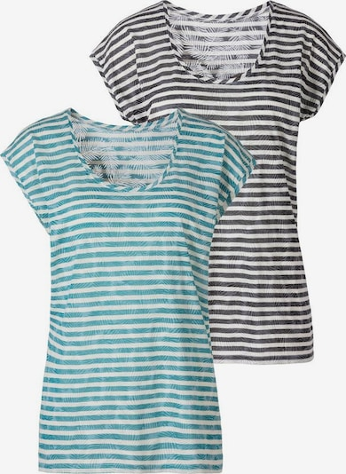 LASCANA Shirt in grün / schwarz / weiß: Frontalansicht